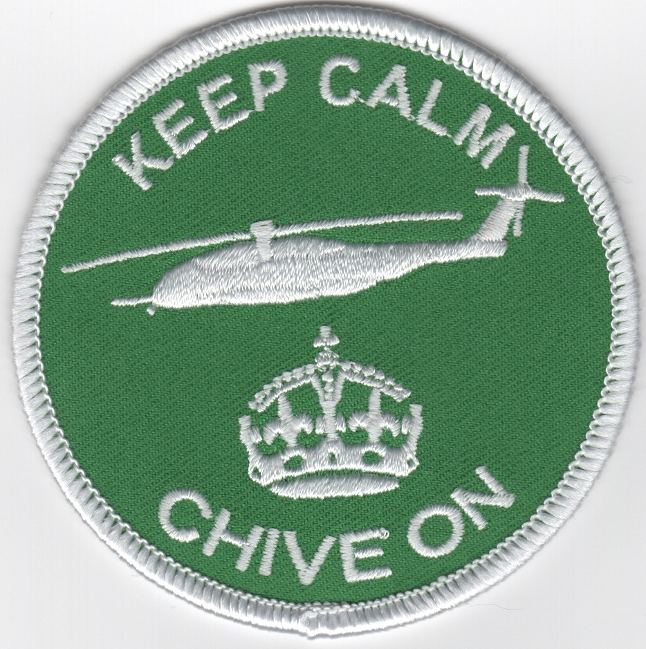 'Keep Calm, Chive On' Patch