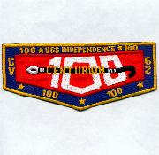 USS Independence (CV-62) 100 Traps Patch