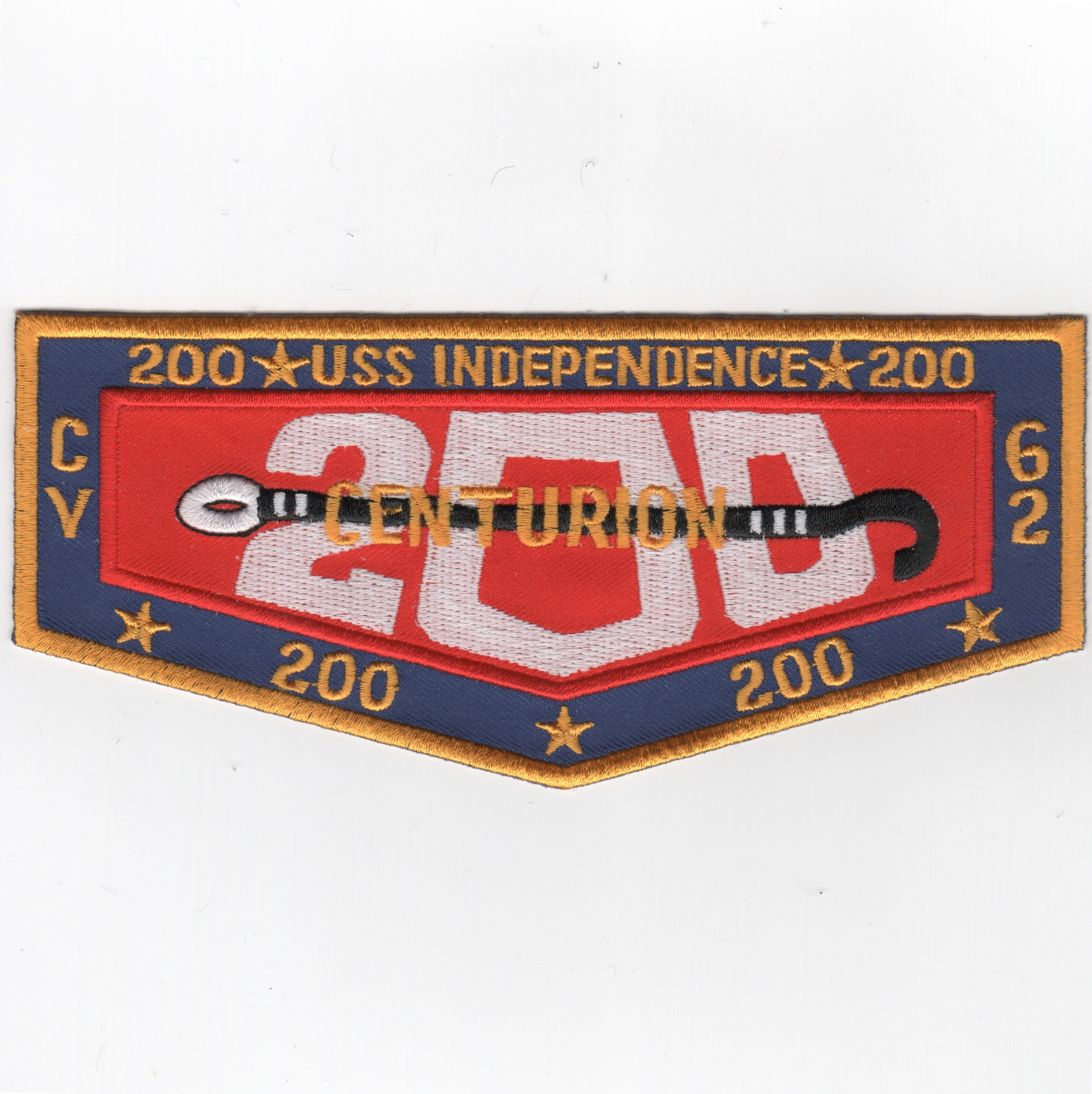 USS Independence (CV-62) 200 Traps Patch