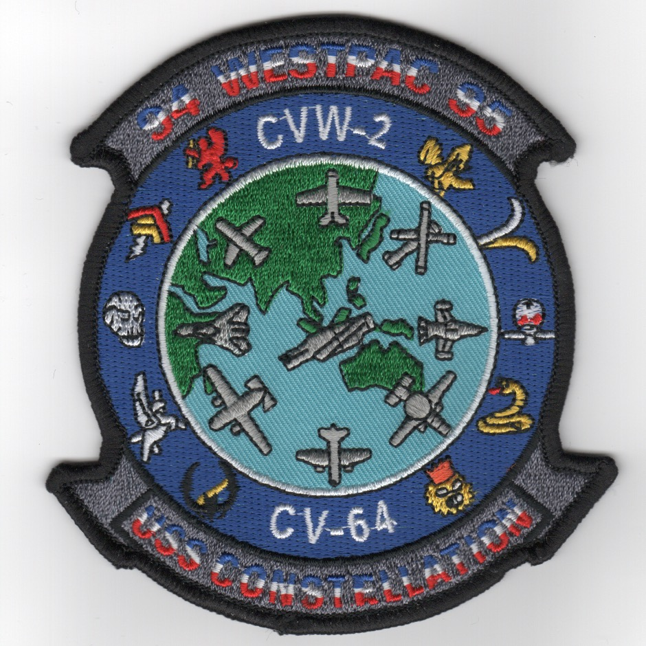 CV-64/CVW-2 1994-95 'Gaggle' Cruise Patch (Blue)