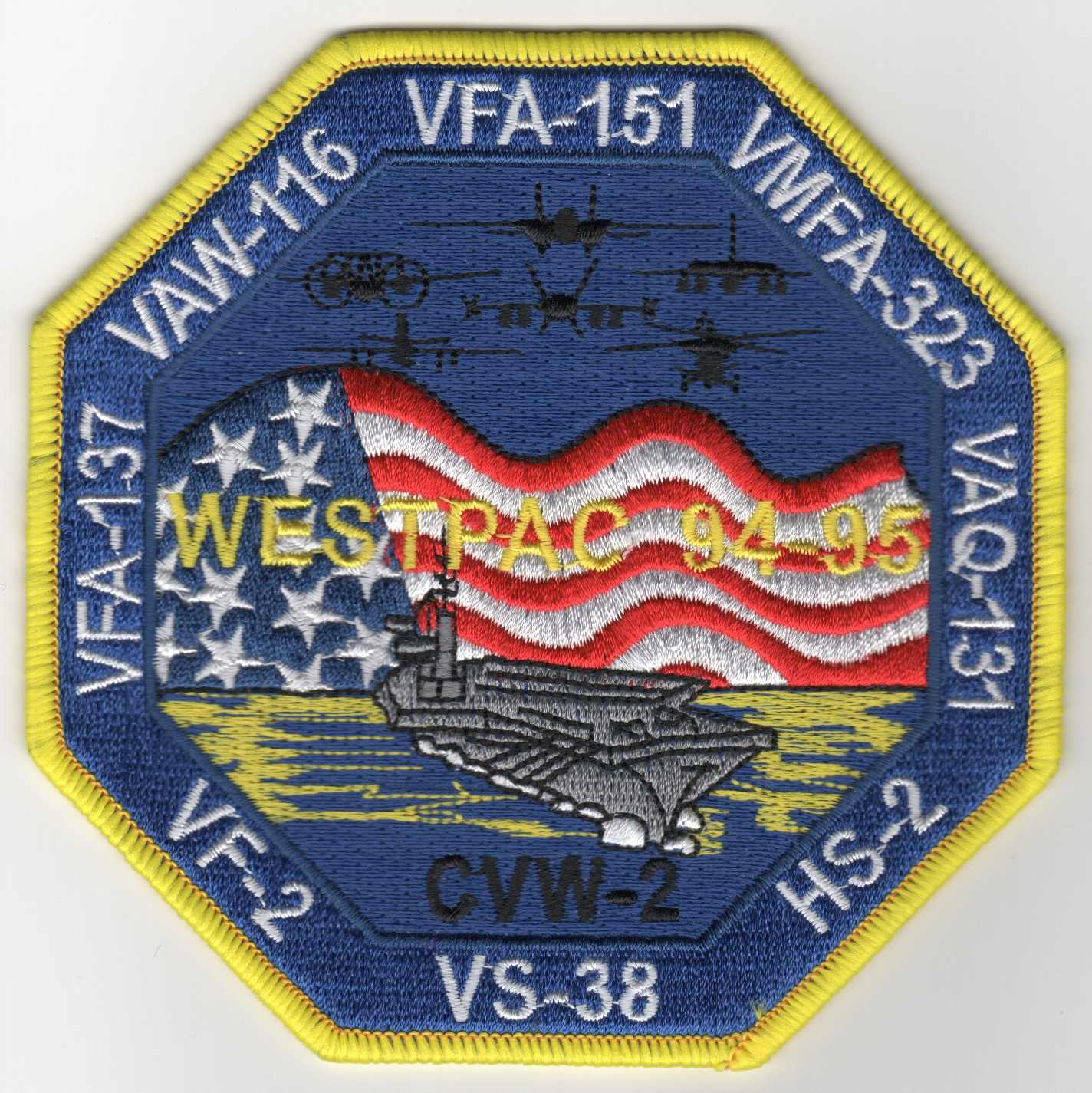CV-64/CVW-2 1995 WestPac (Octagon) Cruise Patch