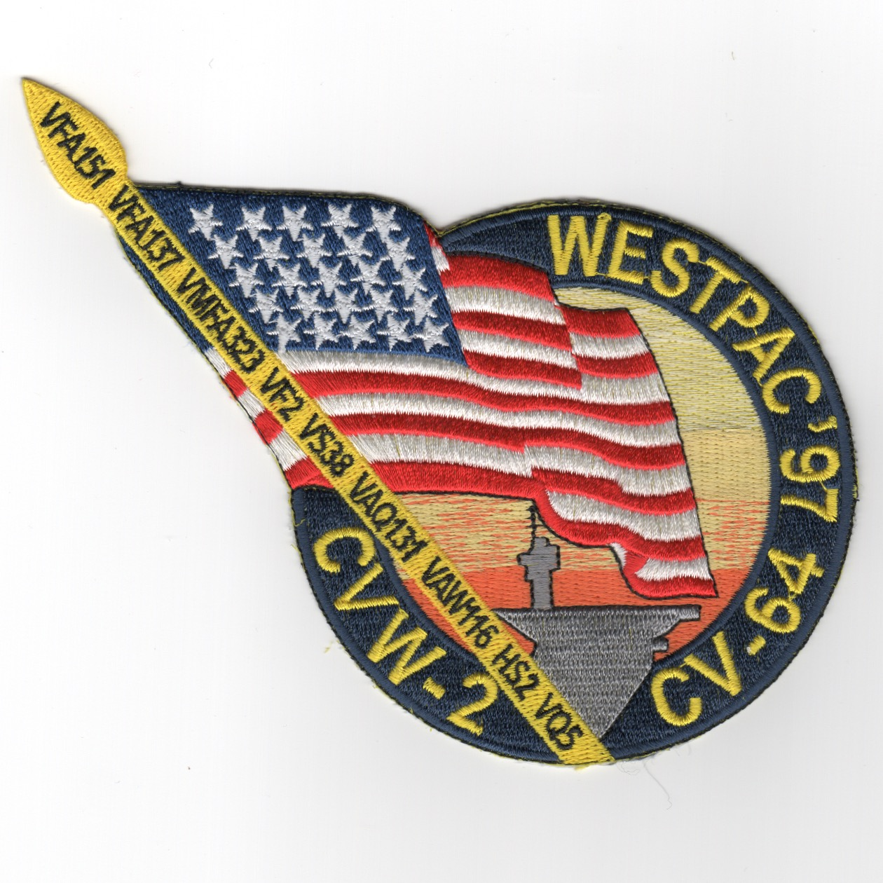 CV-64/CVW-2 1997 WestPac (Flagpole) Cruise Patch