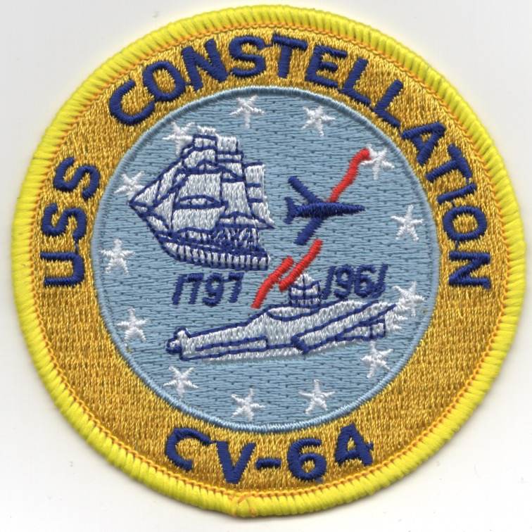 USS Constellation (CV-64) Ship Patch (Large)