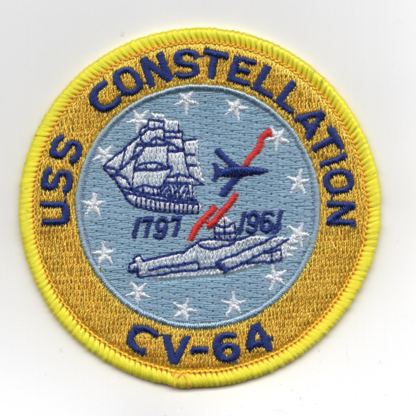USS Constellation (CV-64) Ship Patch (Med)