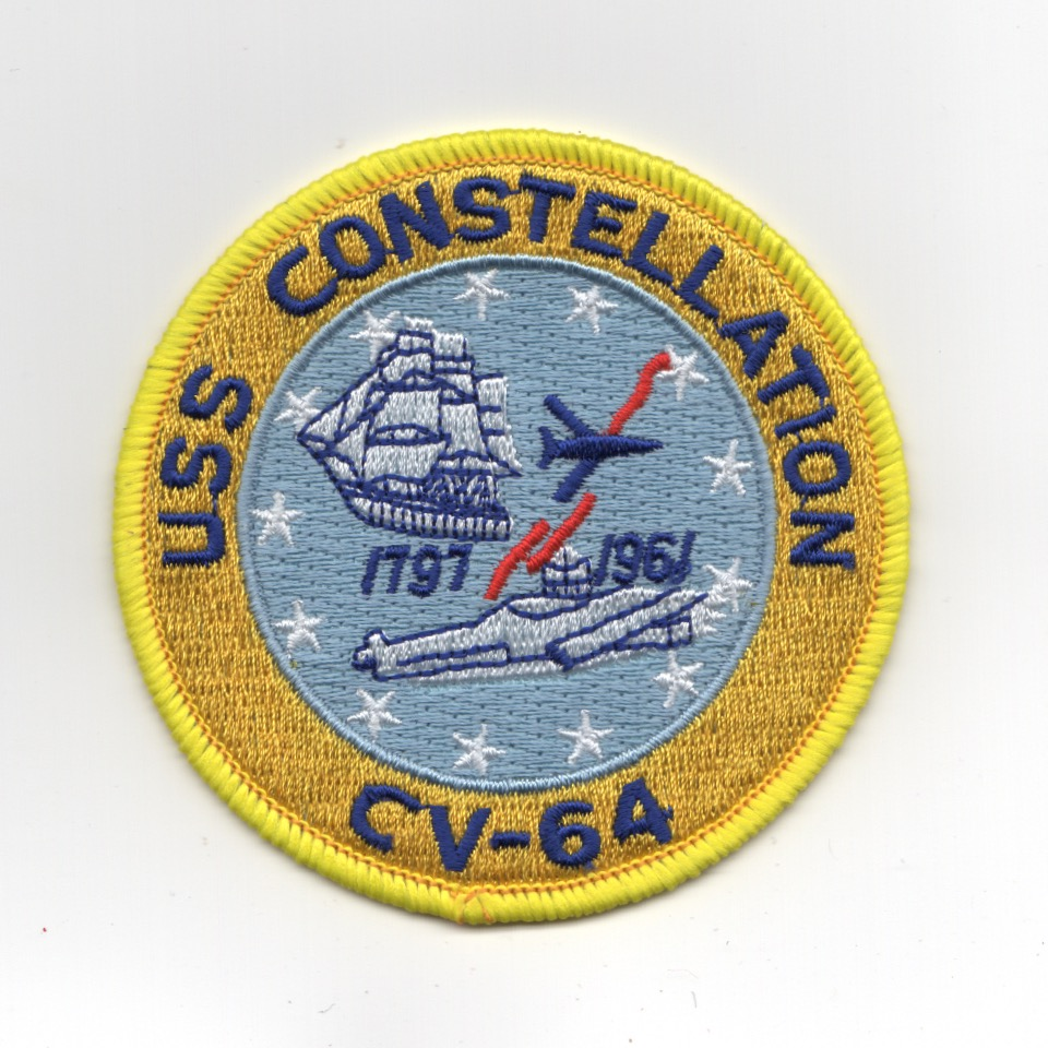 USS Constellation (CV-64) Ship Patch (Small)