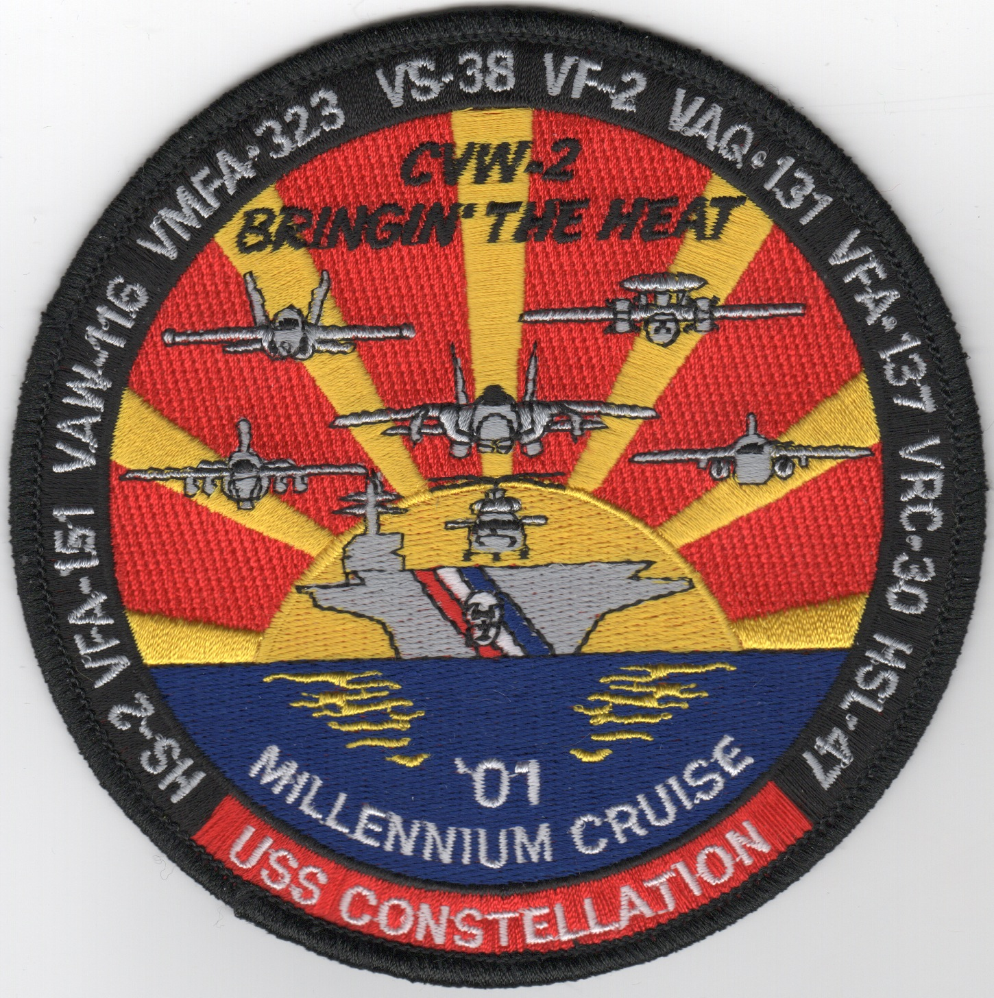 CV-64/VF-2 2001 'Millenium' Cruise Patch (Lg/Round)