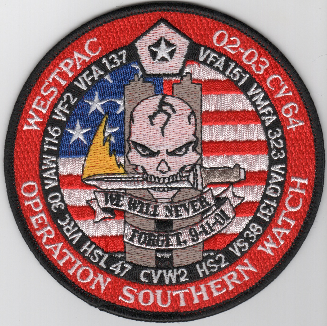 CV-64 2003 OSW Cruise Patch