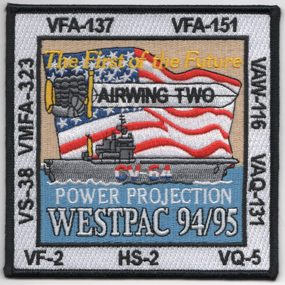 CV-64/CVW-2 1995 'First of the Future' Cruise Patch