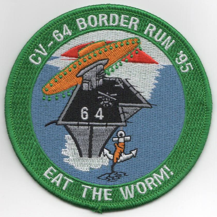 CV-64/CVW-2 1995 'EAT THE WORM' Cruise Patch