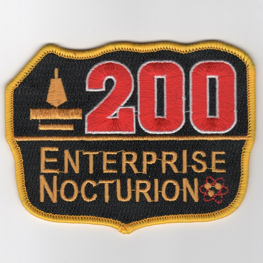 CVN-65 '200 Nite Traps' Patch