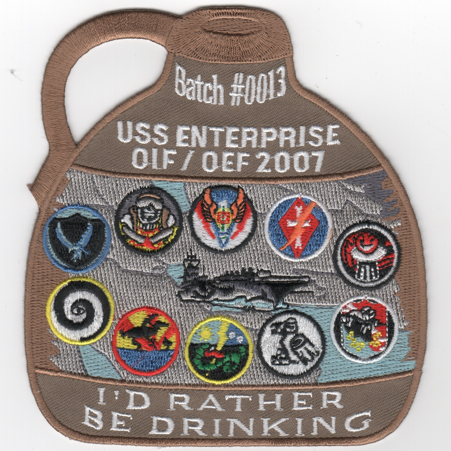 CVN-65 OIF/OEF '07 'Brown Jug' Cruise Patch