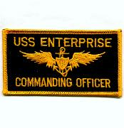USS Enterprise (CVN-65) CO Nametag