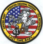 CVN-65/CVW-8/VF-41 OEF Cruise Patch 2002