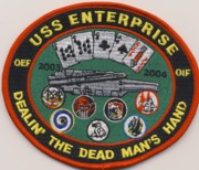 CVN-65 OIF/OEF 'Dead Man's Hand' Patch