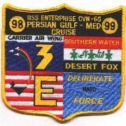 CVN-65/CVW-3 'Desert Fox' Cruise Patch 1999