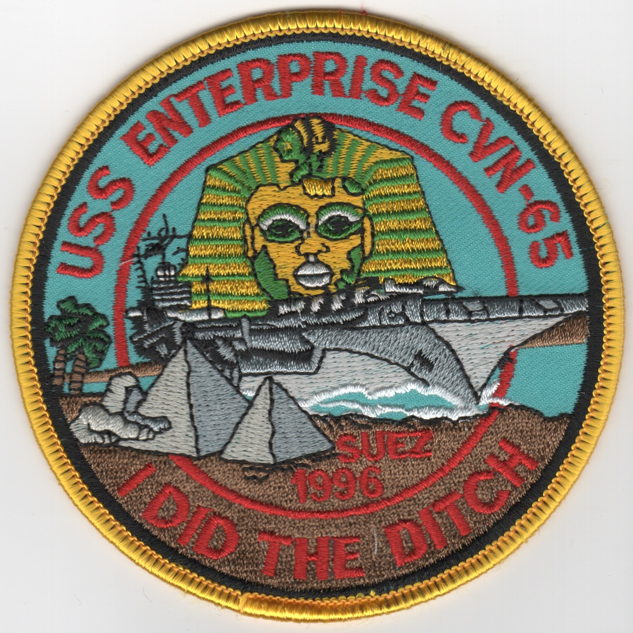 CVN-65 1996 'DITCH' Patch (Color)