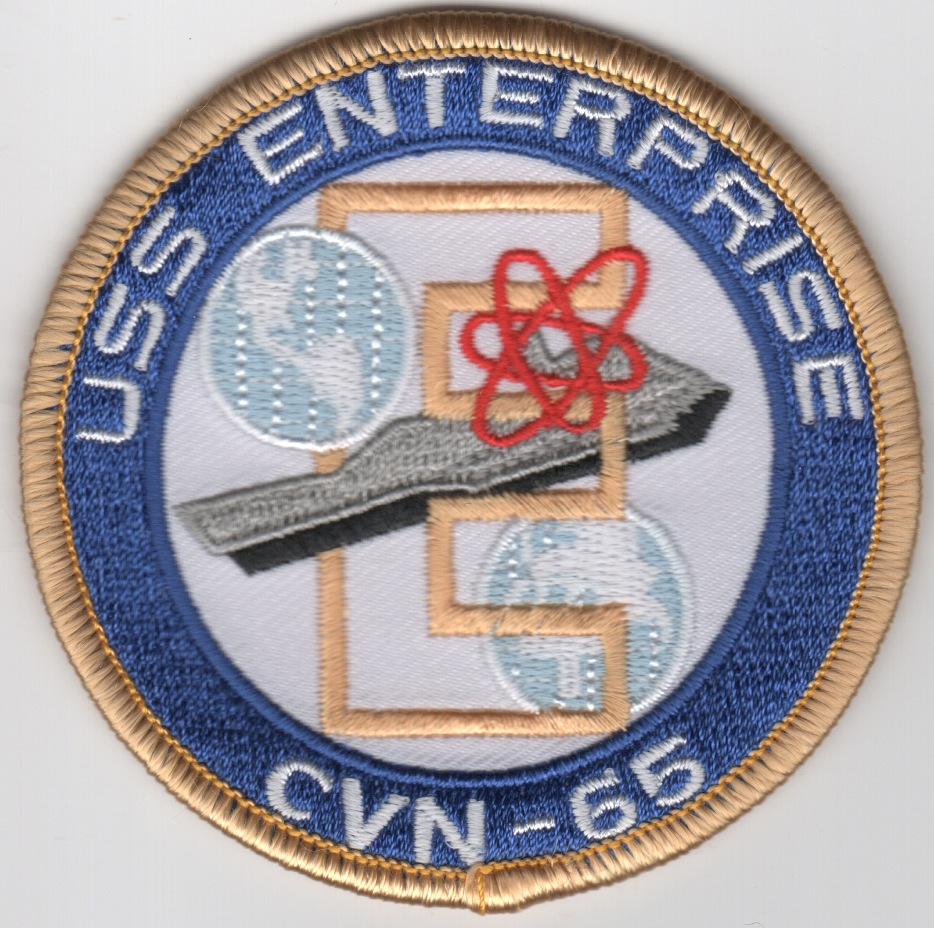 USS Enterprise (CVN-65) Ship Patch (Small)