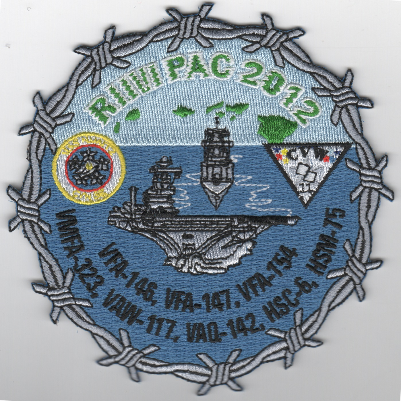CVN-68/CVW-11 2012 'RIMPAC' Cruise Patch (Round)