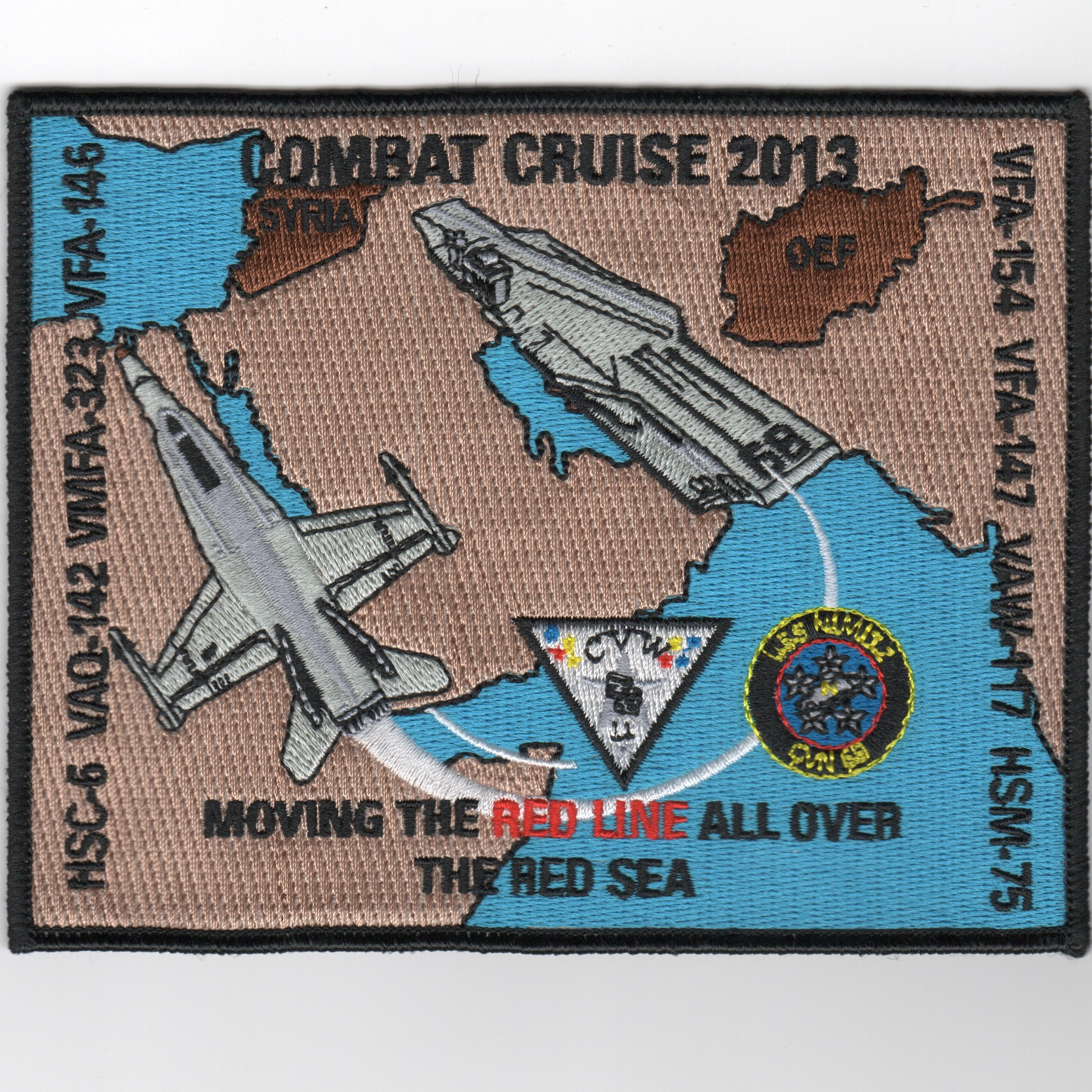 CVN-68/CVW-11 2013 Combat Cruise Patch (Square)