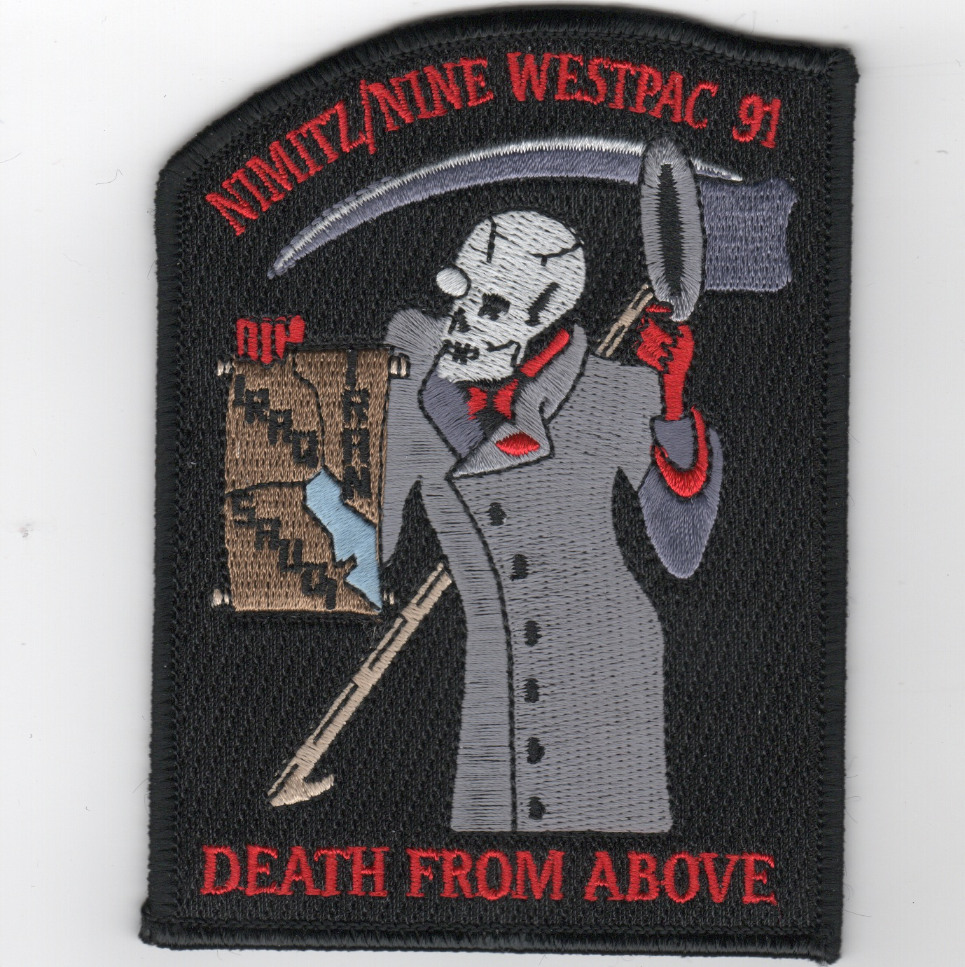 CVN-68/CVW-9 1991 WestPac 'Death from Above' Patch