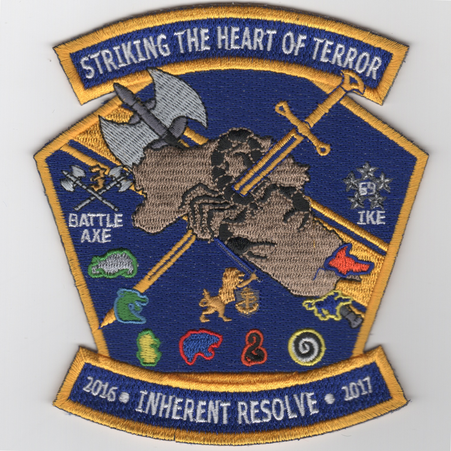 CVN-69/CVW-3 2016 OIR 'Heart of Terror' Cruise Patch