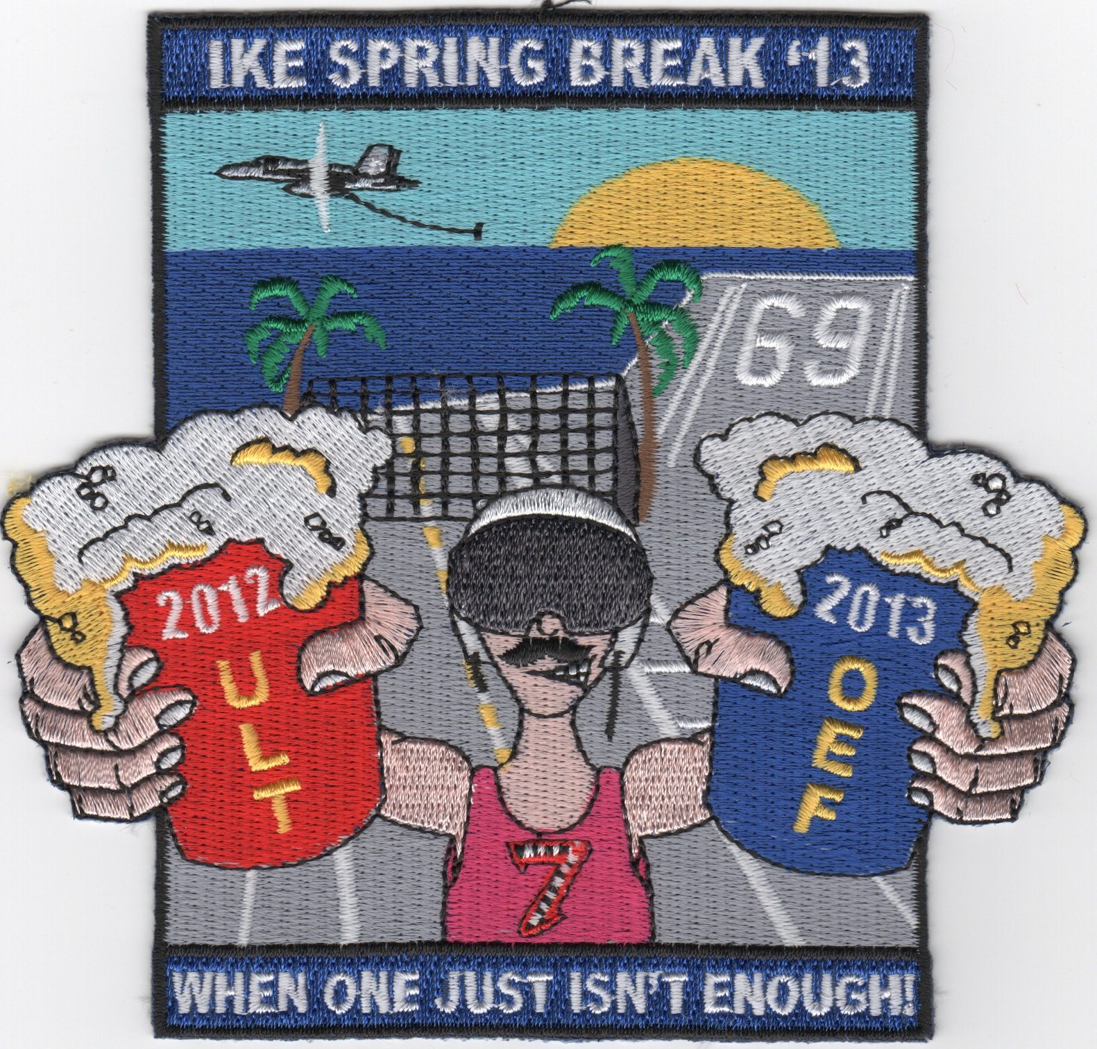 CVN-69/CVW-7 2013 'Spring Break' Cruise Patch