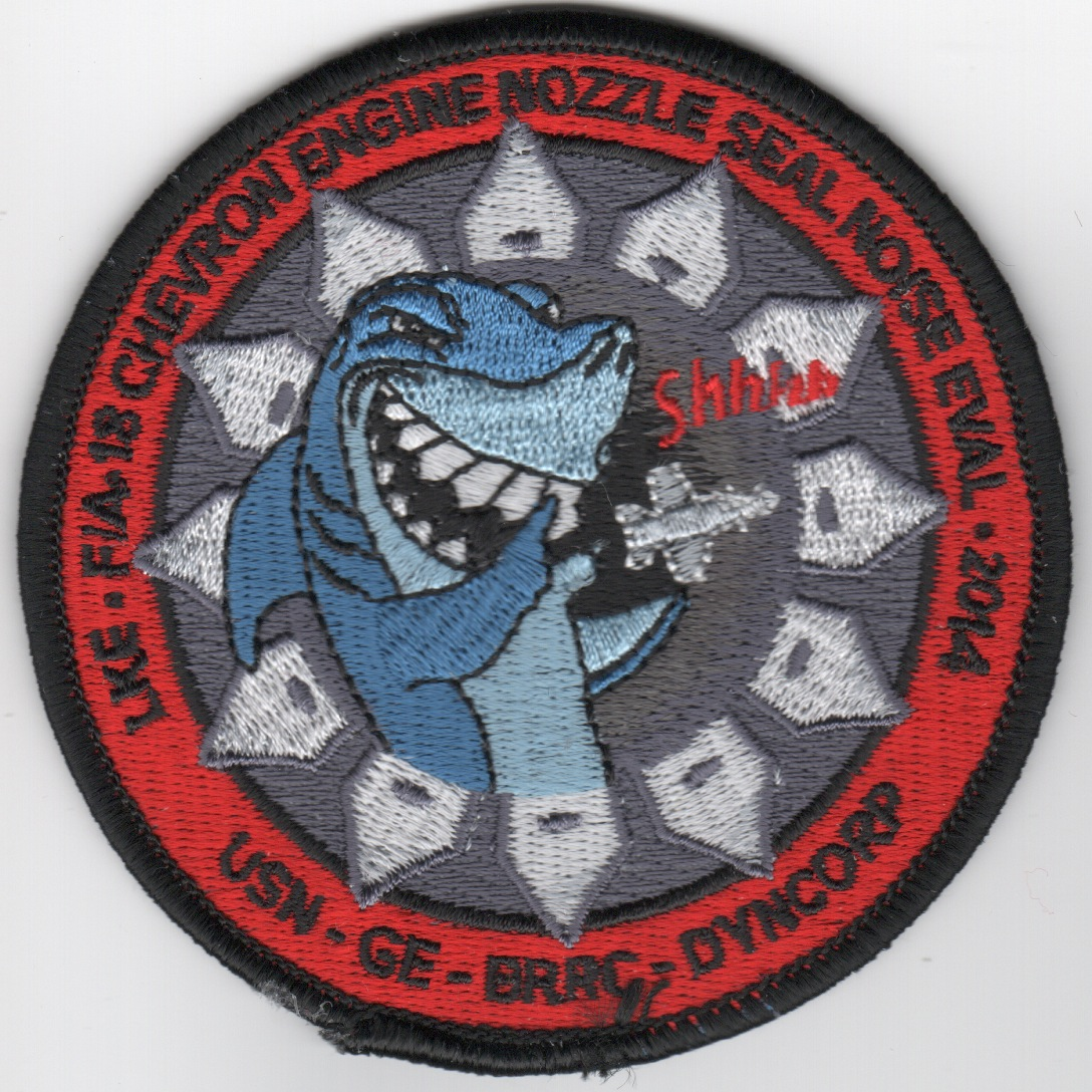 CVN-69/F-18 2014 Engine/Nozzle Eval Patch