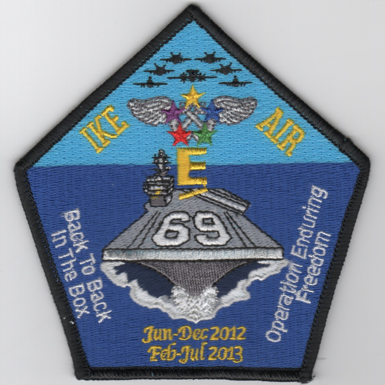 CVN-69 2012 'IKE AIR' Cruise Patch (Pentagon)