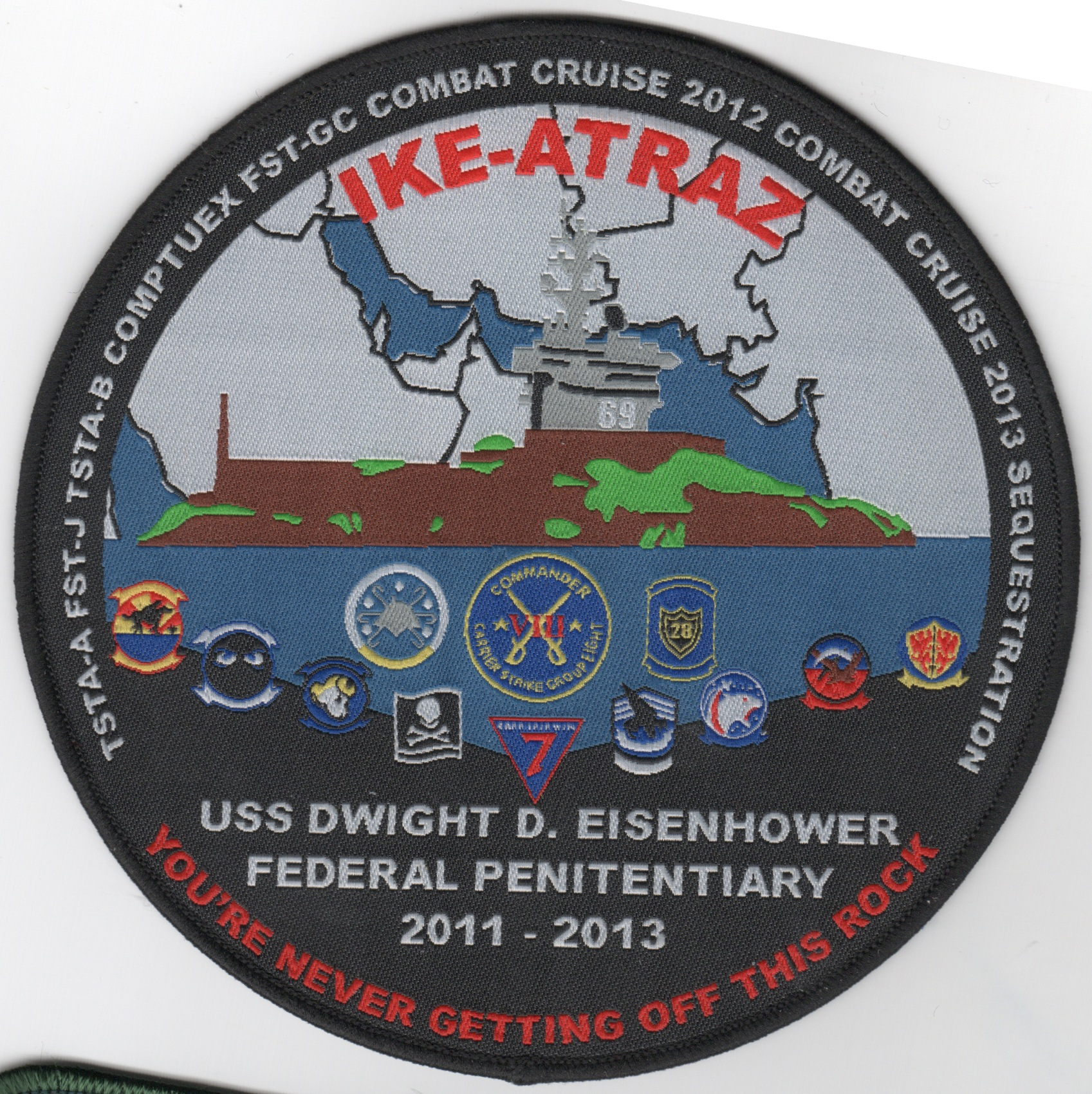 CVN-69/VFA-143/CVW-7 2011-2013 'IKE-ATRAZ' Cruise Patch