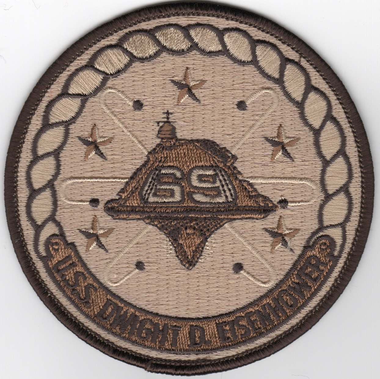 USS Dwight D. Eisenhower (CVN-69) Ship Patch (Des)