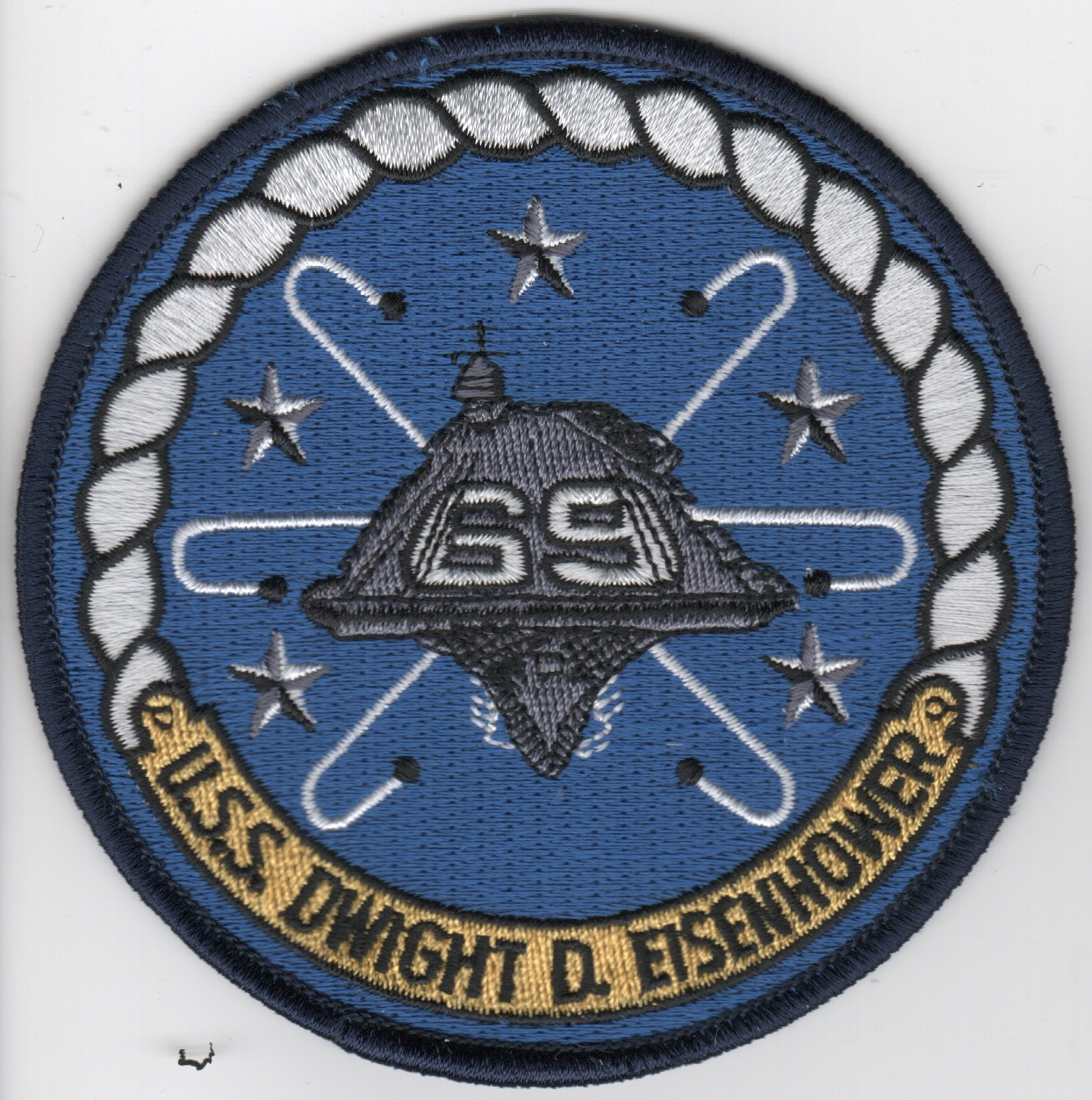 USS Dwight D. Eisenhower (CVN-69) Ship Patch (Dk Blue)
