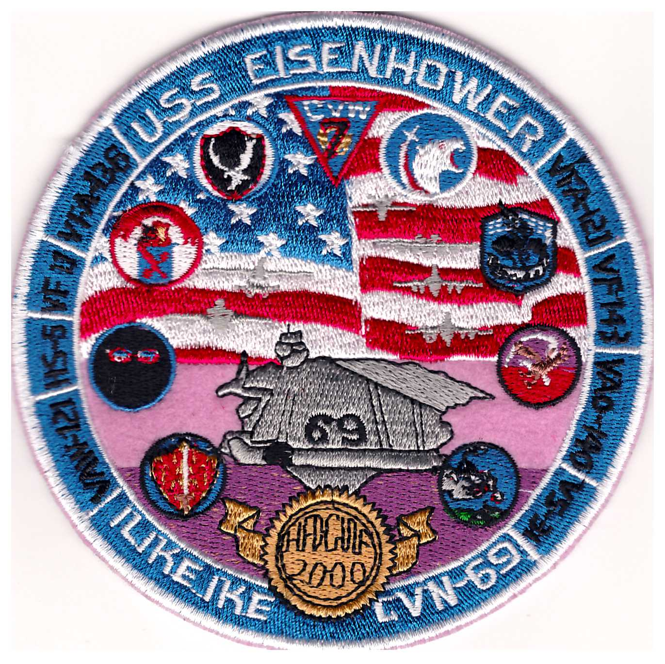 CVN-69 2000 'Gaggle' Cruise Patch (Handmade)