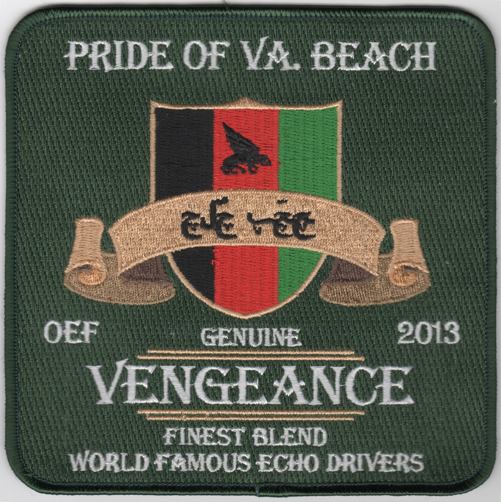 CVN-69/VFA-143/CVW-7 2013 'Pride of VB' Cruise Patch