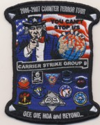 CVN-69 OIF/OEF 'Counter Terror' Patch