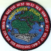 CVN-71 1997 Med Cruise Patch (Red)