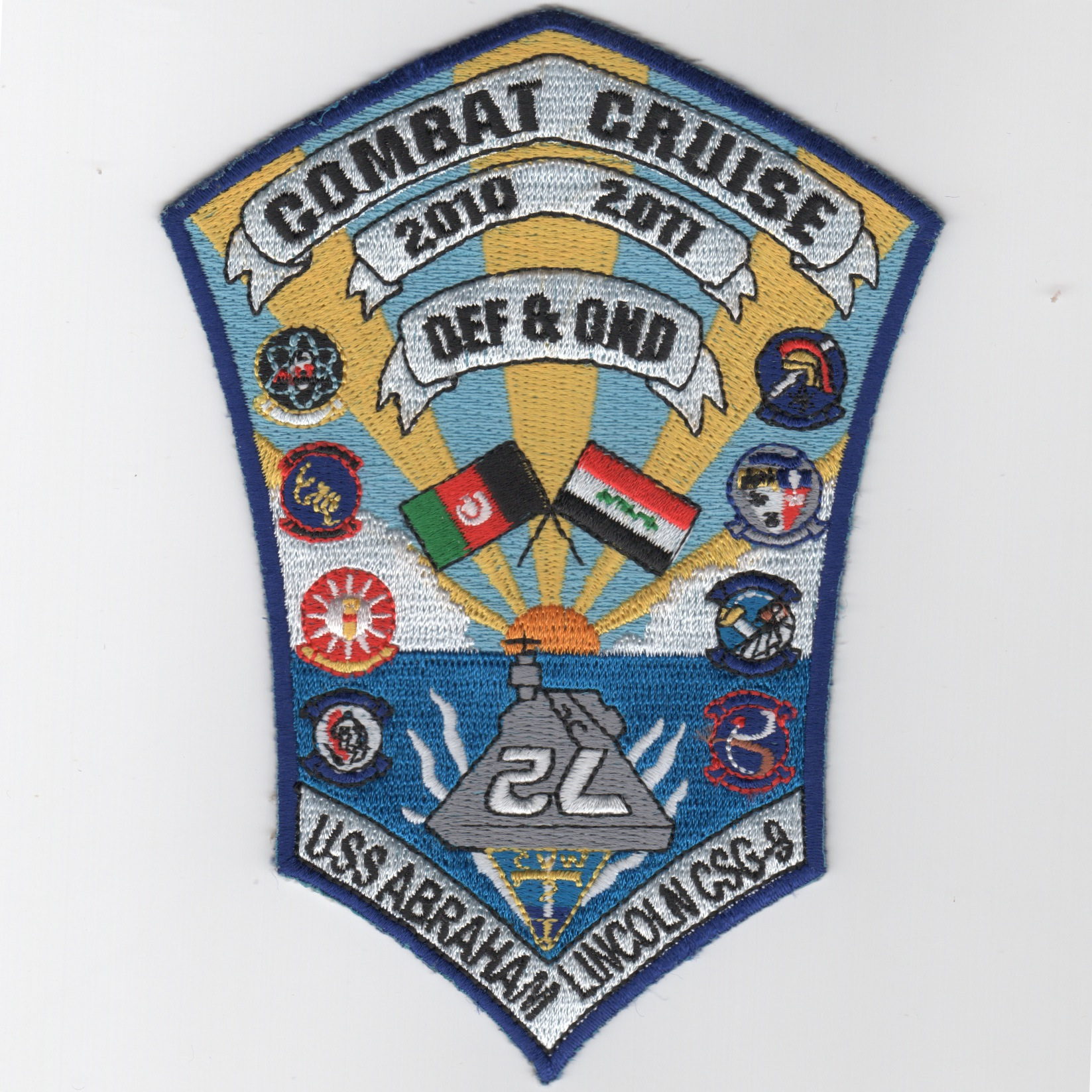 CVN-72/VAQ-131 2010/2011 OEF/OND Combat Cruise Patch (Shield)