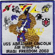 CVN-72 2002/2003 OIF 'Gaggle' Patch