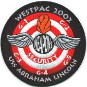 CVN-72 2002/2003 Weapons Patch