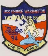 CVN-73 Maiden Voyage 1994 Cruise Patch