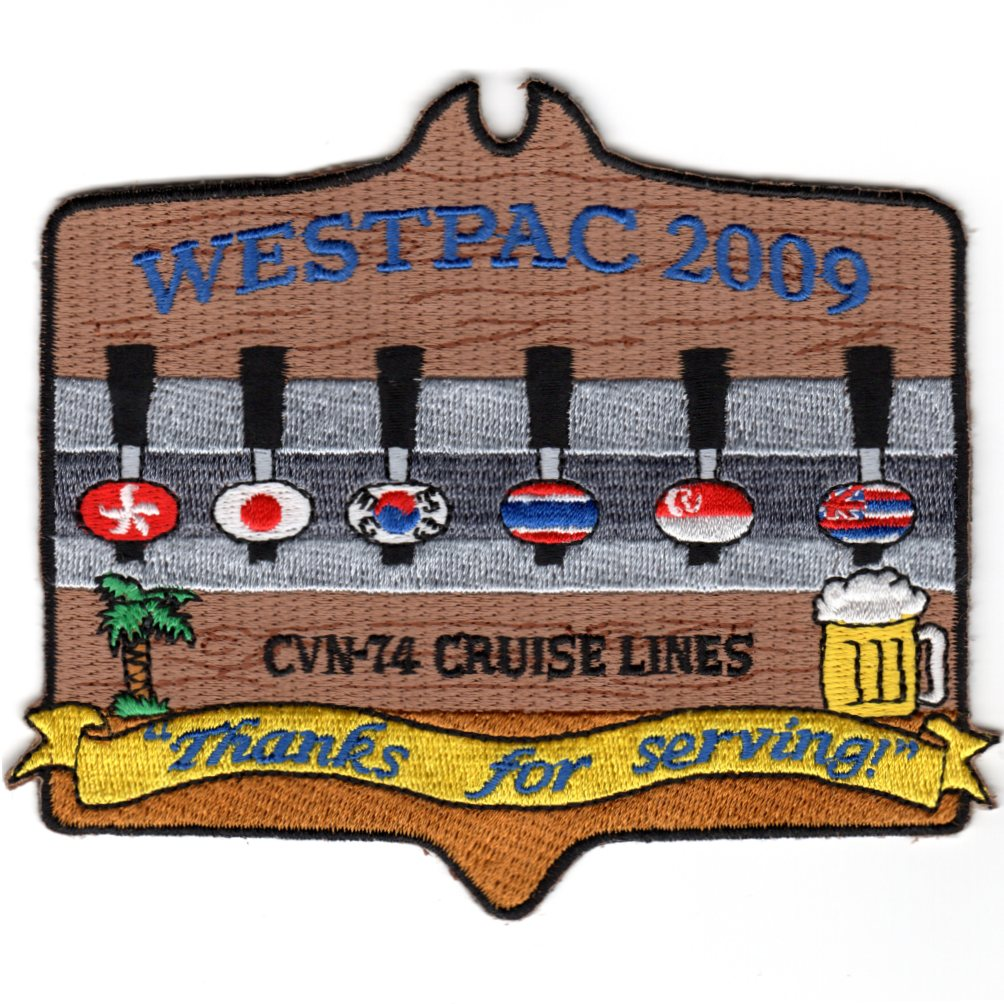 CVN-74 2009 'WESTPAC Cruise Lines' Patch
