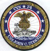 USS John C. Stennis (CVN-74) Ship Patch