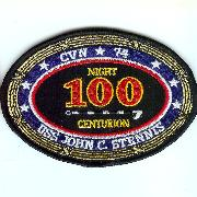 USS John C. Stennis (CVN-74) 100-Nights Trap Patch