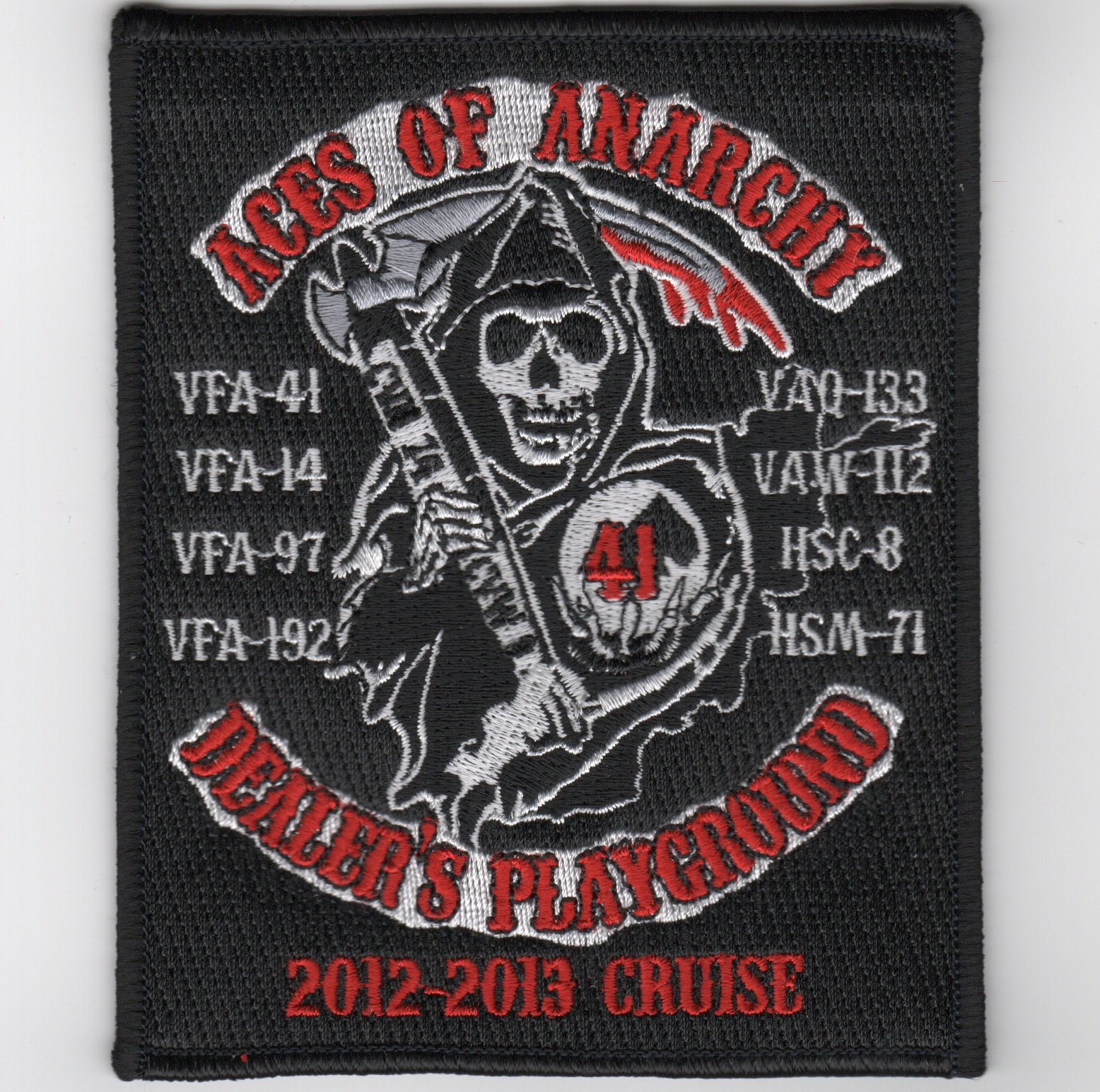 CVN-74 2013 'Aces of Anarchy' Cruise Patch (Square)