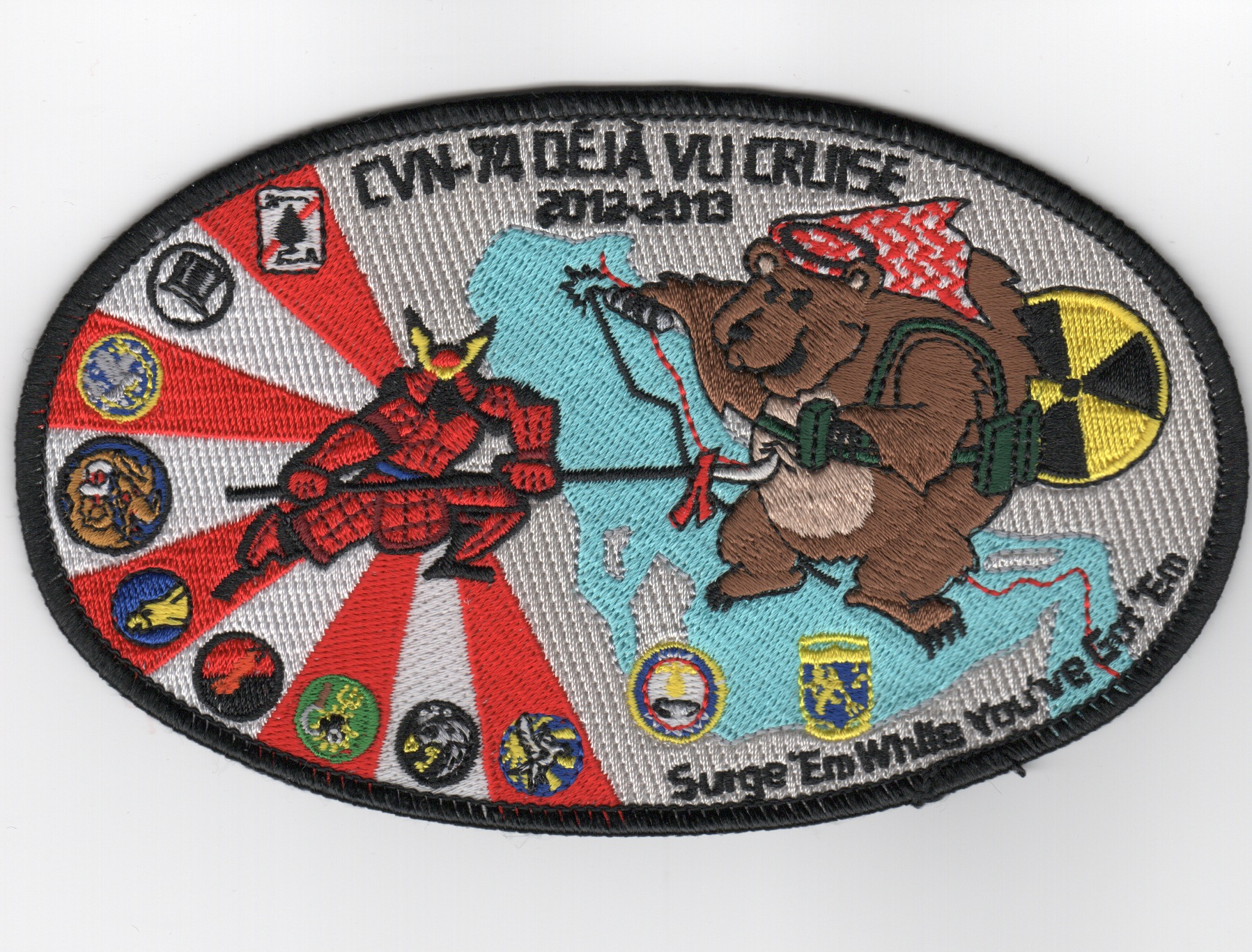 CVN-74 2013 'DEJA VU' Cruise Patch (Oval)