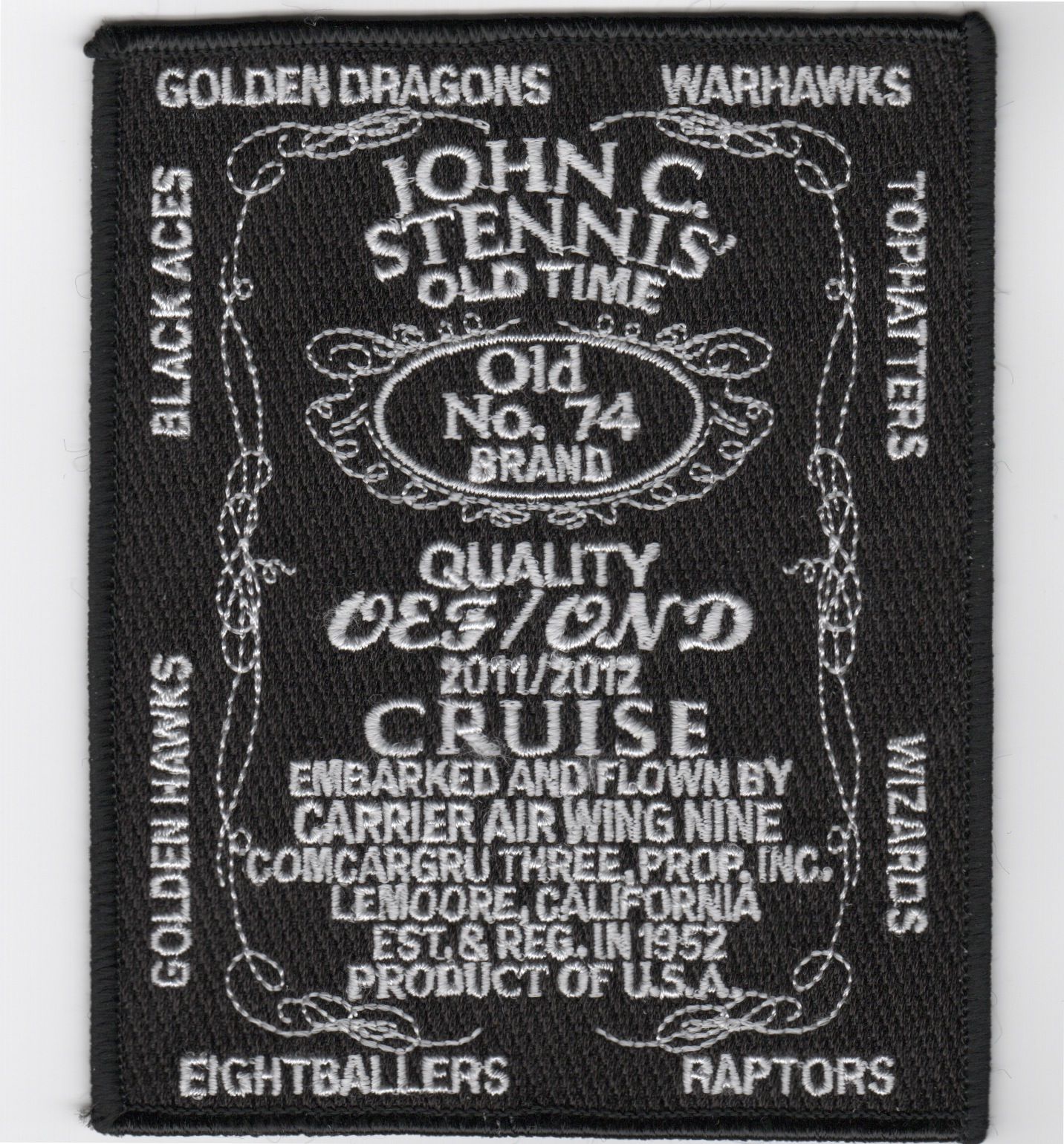 CVN-74/CVW-9 2012 'Jack Daniels' Cruise Patch