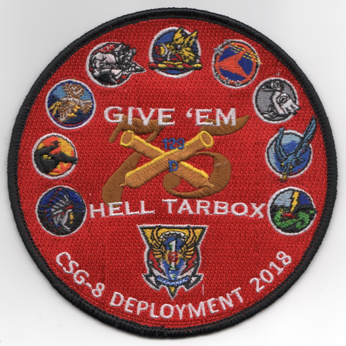 CVN-75 2018 'GIVE EM HELL' Cruise Patch (Red)