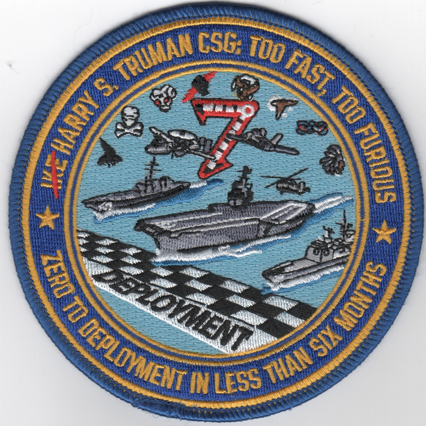 CVN-75/CVW-7 'Too Fast, Too Furious' Cruise Patch