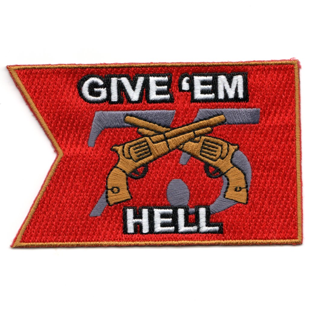 CVN-75 'GIVE 'EM HELL' Patch (Red Pennant)