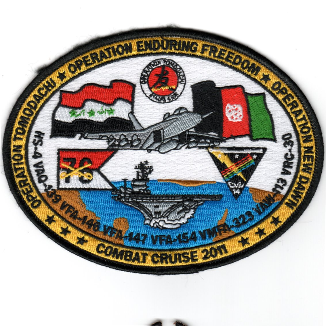 CVN-76/VFA-146 2011 OEF Cruise Patch (Oval)