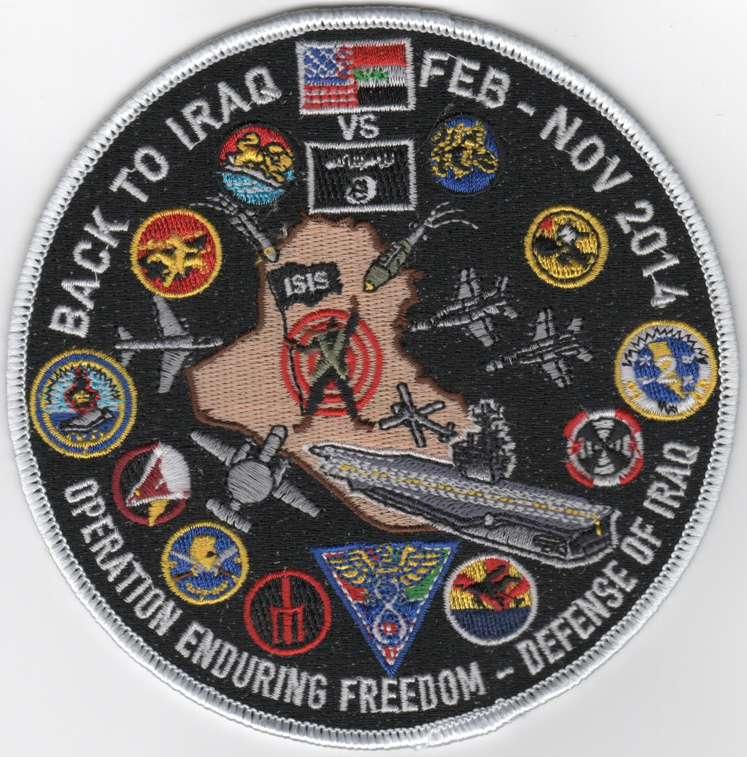 CVN-77/CVW-8 2014 'Back to Iraq' Cruise Patch